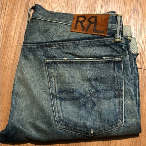 ffa495111f3a1 RRL Low Straight Jean in Midland Wash Selvedge. M 5a5952be3afbbd8b0aeb6f08.  Other Jeans you may like. Ralph Lauren Double RL ...